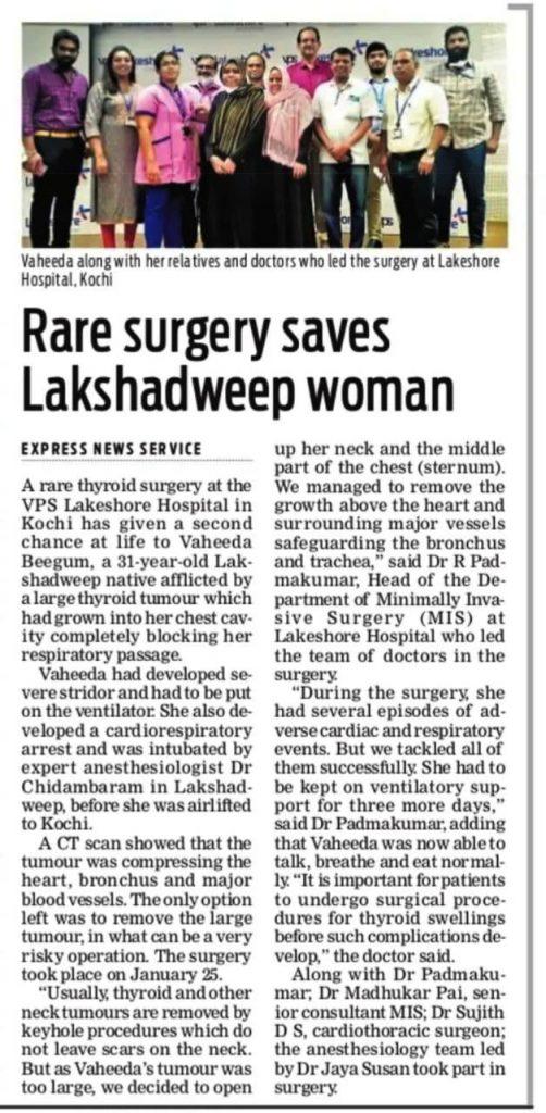 Thyroid Surgery - VPS Lakeshore Hospital Kochi
