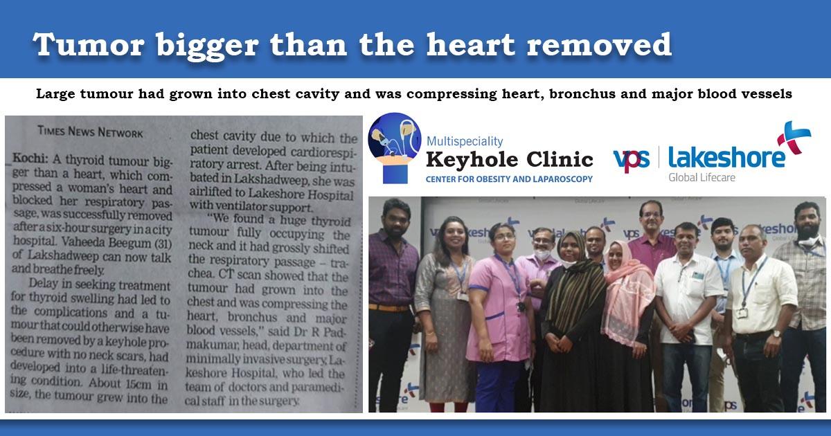 Thyroid Tumor removed VPS Lakeshore Hospital Kochi