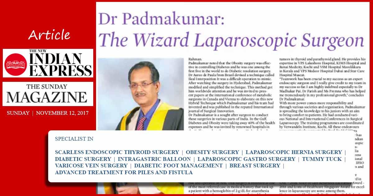 Best Laparoscopic Surgeon - Dr R Padmakumar